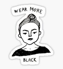Wear More Black Sticker