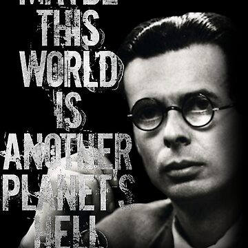 Aldous Huxley Quote T-Shirt (Maybe this world is another planet's hell) by rdbbbl
