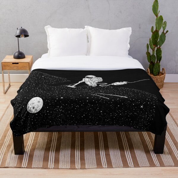 Space Cleaner Throw Blanket