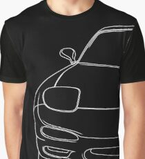 rx7 fd outline - white Graphic T-Shirt