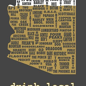 Drink Local - Arizona Beer Shirt by uncmfrtbleyeti
