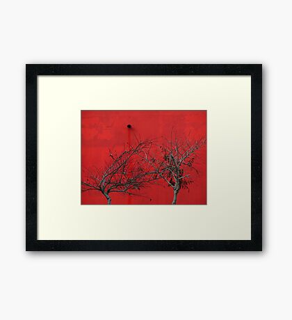 Trees are Hot Framed Print