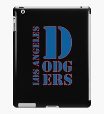 Los Angeles Dodgers typo iPad Case/Skin
