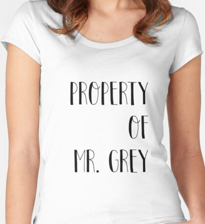 Property of Mr. Grey Women's Fitted Scoop T-Shirt