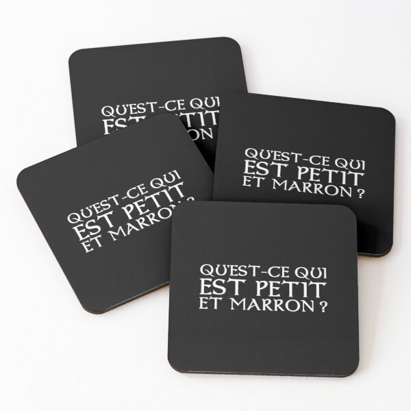 Kaamelott - What is small and brown? Coasters (Set of 4)
