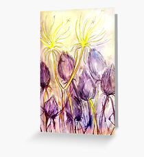 Dandelions In the Wind Greeting Card