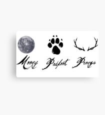 Moony, Padfoot and Prongs Canvas Print
