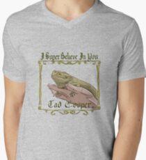 Camiseta para hombre de cuello en v Yo Súper Creo en Ti Tad Cooper