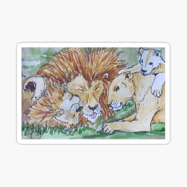 Lion Family Sticker