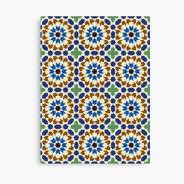 geometric morrocan pattern Canvas Print