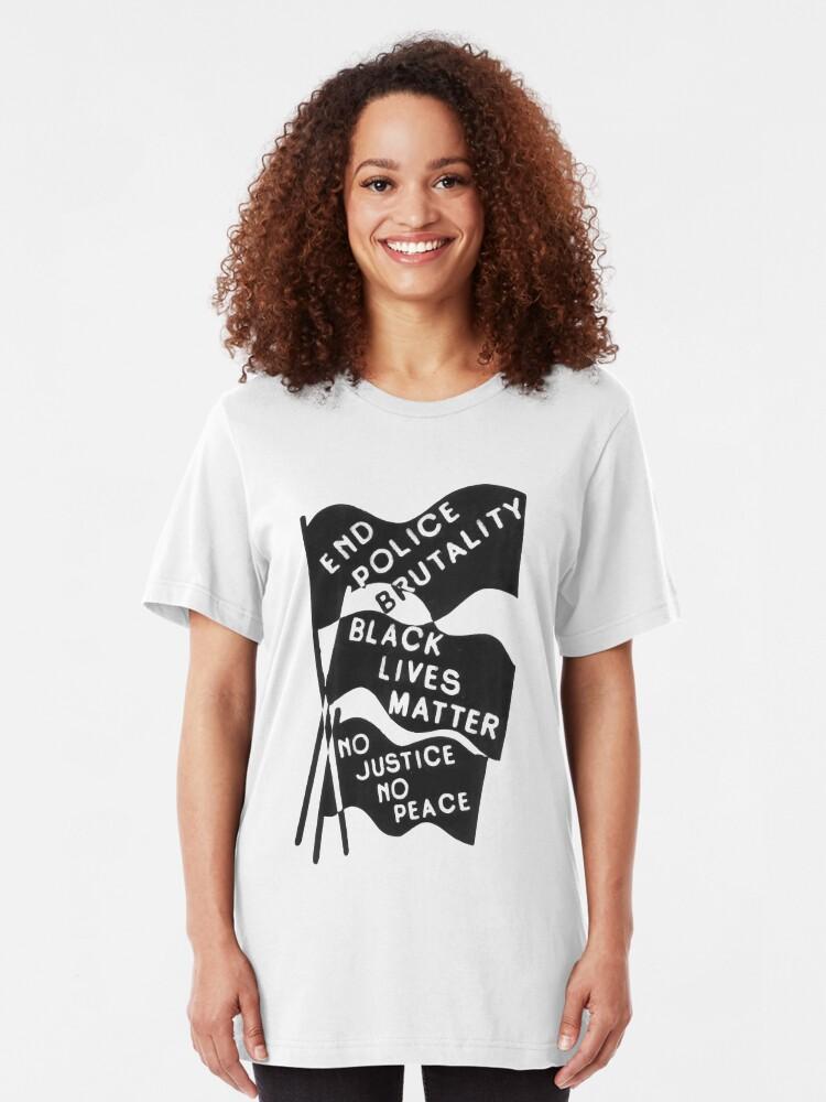 Alternative Ansicht von Schwarz lebt Materie Slim Fit T-Shirt