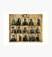 The 100 poster 1 Art Print