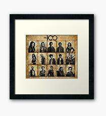The 100 poster 2 Framed Print