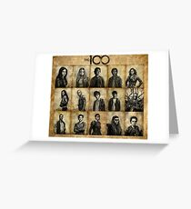 The 100 poster 2 Greeting Card
