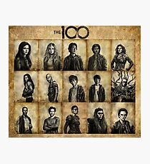 The 100 poster 2 Photographic Print