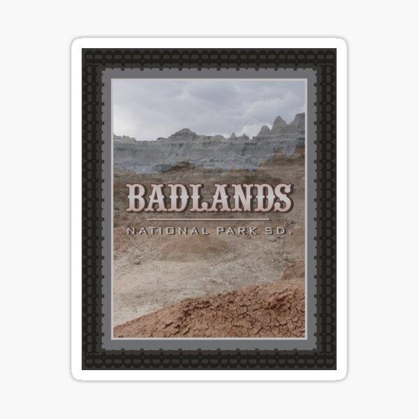 Badlands Stamp Sticker