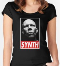 VINCE CLARKE, SYNTH - OBEY Inspired Design Women's Fitted Scoop T-Shirt