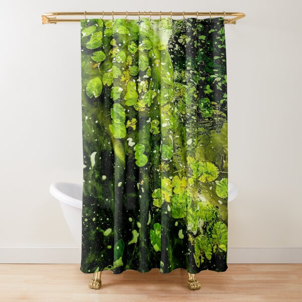 Green sea of leaves Shower Curtain