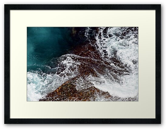 Natural Abstract - Water Over Rocks by Stuart Blythe