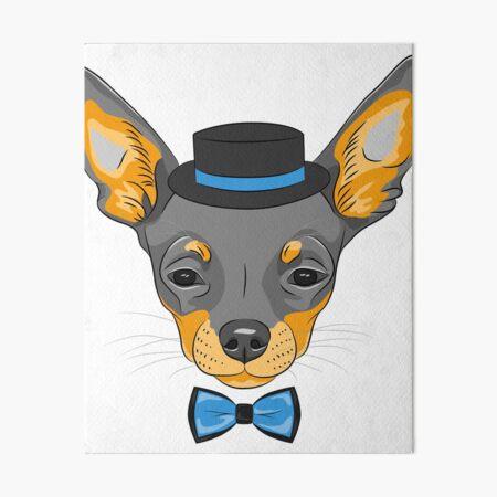 Hipster Chihuahua Wall Art Redbubble
