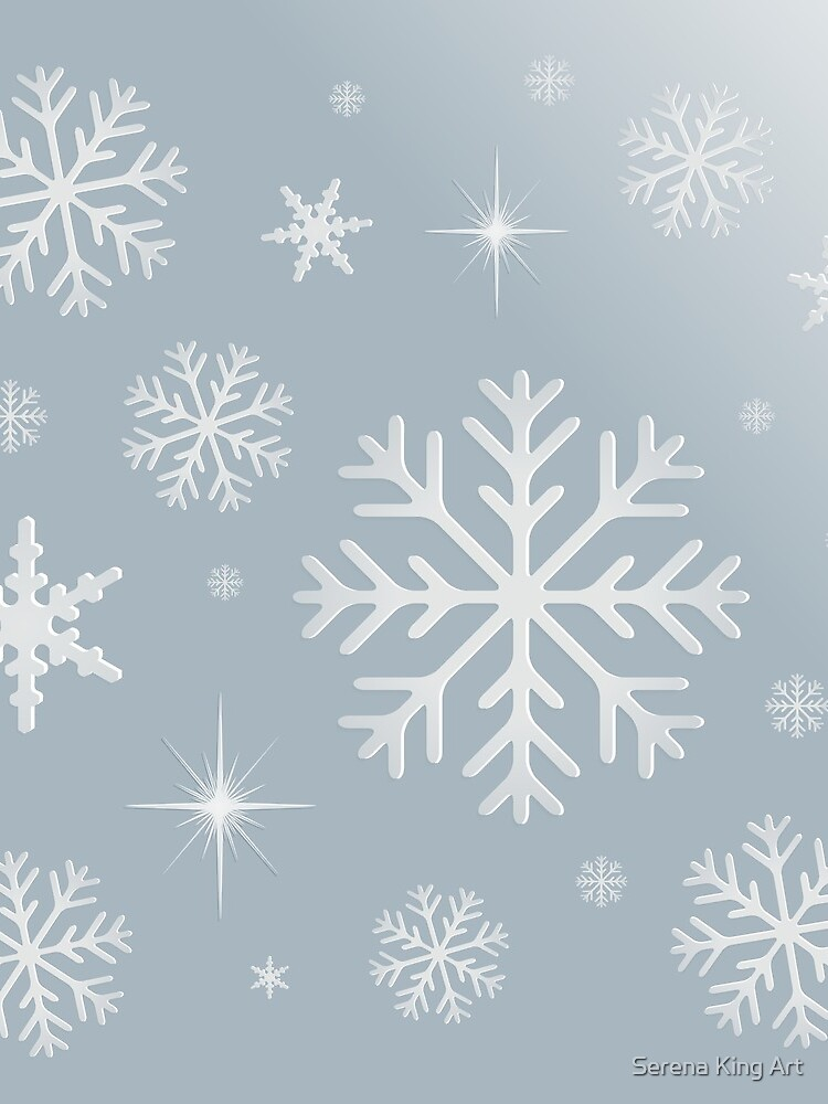 Snowflake Background - Silver by serenaking