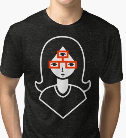 Third Eye Glasses Tri-blend T-Shirt