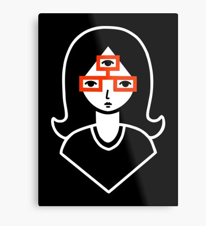 Third Eye Glasses Metal Print