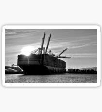 das Containerschiff Sticker