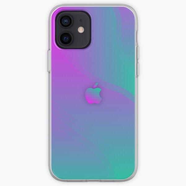 Verde y púrpura Aurora Gradient Funda para iPhone, Funda para iPhone Funda blanda para iPhone