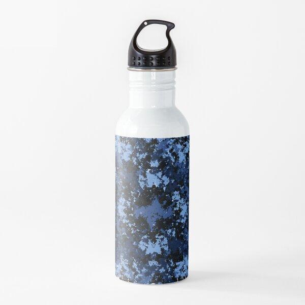 Random Blue Pattern Water Bottle