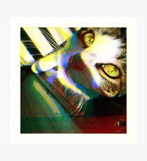 That's One Glitchin' Kitty Art Print