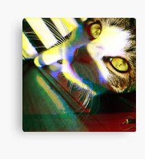 That's One Glitchin' Kitty Canvas Print