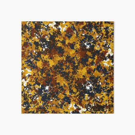 Random Yellow and Brown Pattern Art Board Print