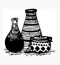 Three Pottery Photographic Print