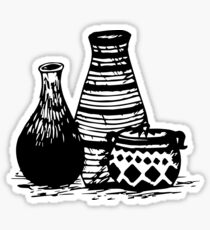 Three Pottery Sticker