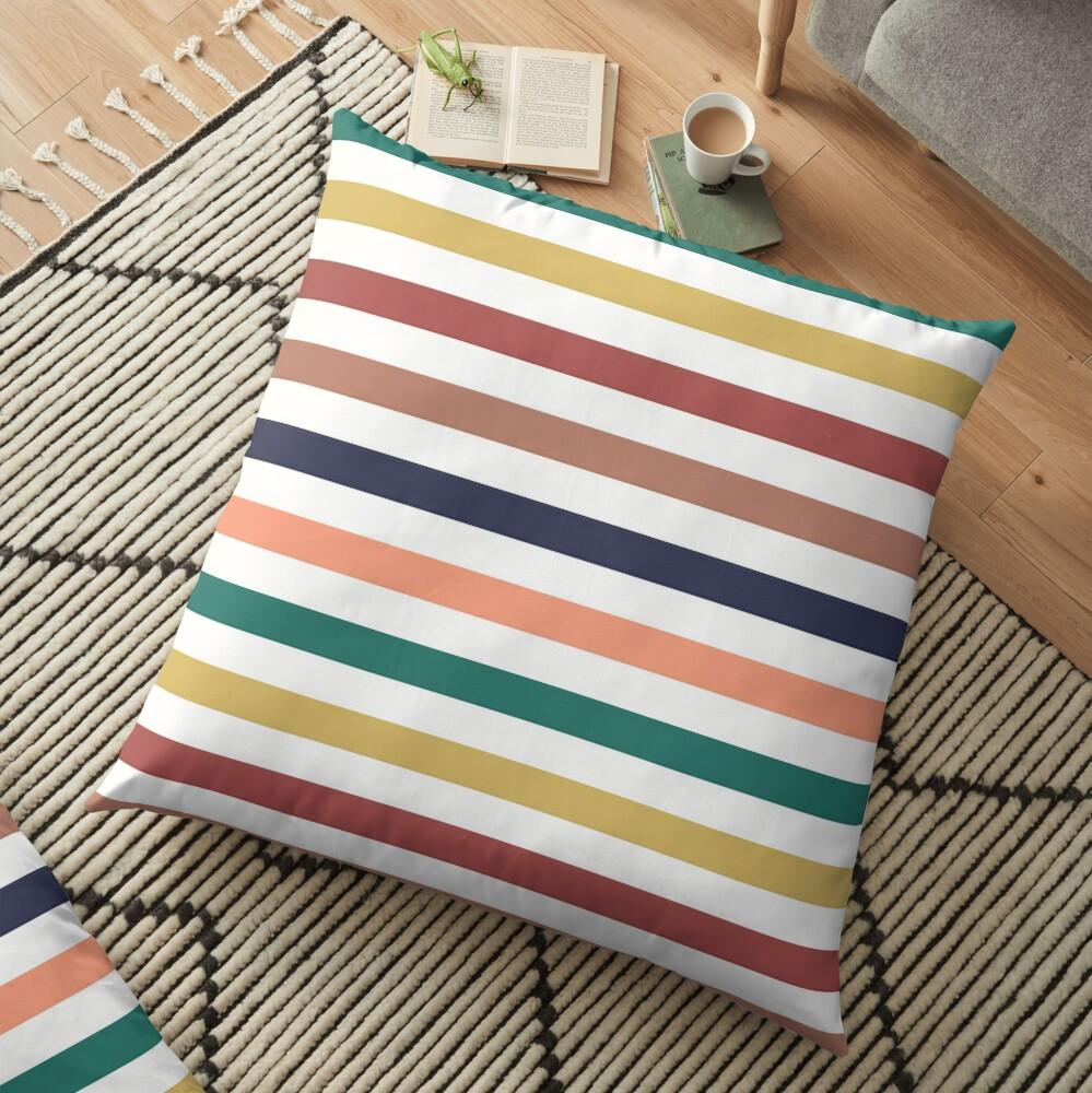 Lit Lines Floor Pillow