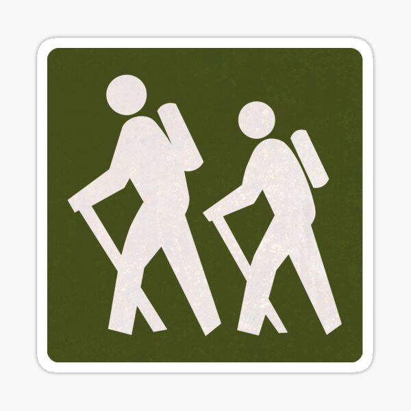 Outdoor Recreational Backbacking Road Sign Sticker