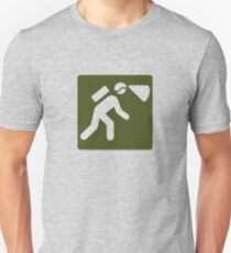 Outdoor Recreational Spelunking and Mining Sign Unisex T-Shirt