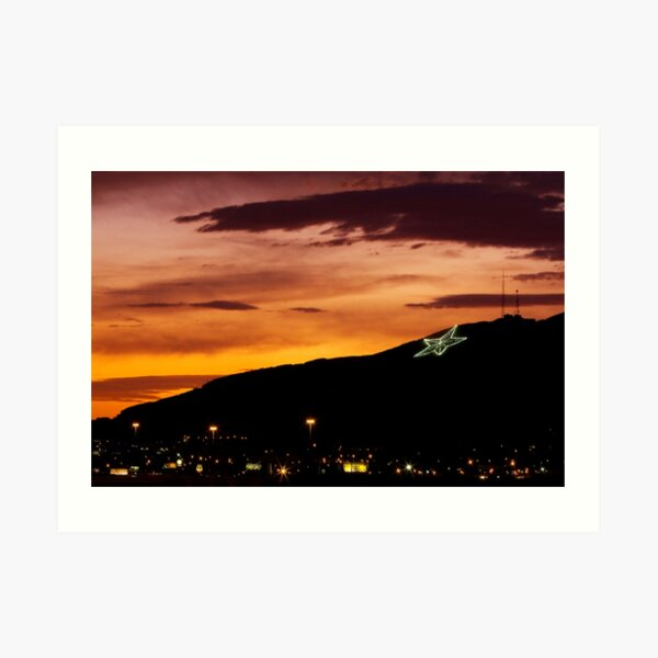 El Paso's Star on the Mountain Art Print