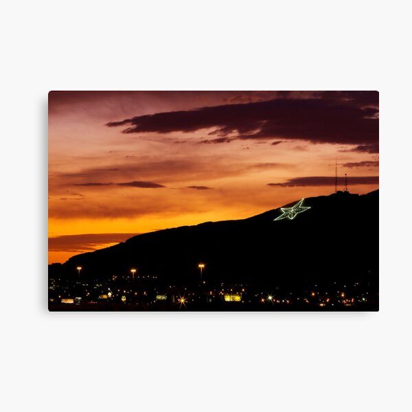 El Paso's Star on the Mountain Canvas Print