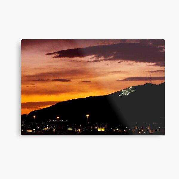 El Paso's Star on the Mountain Metal Print