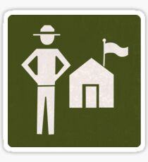 Outdoor Recreational Park Ranger Road Sign Sticker