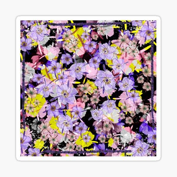 Violet Flowers Pegatina