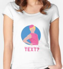 did you get my text? Women's Fitted Scoop T-Shirt