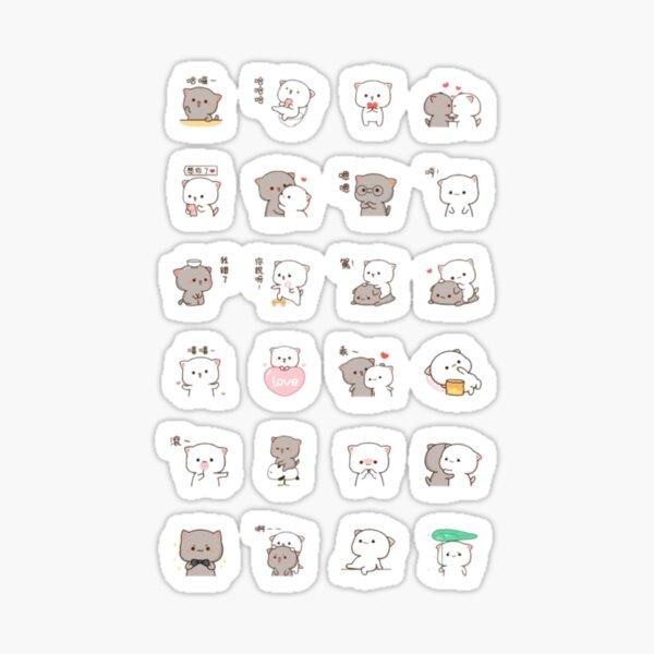 Paquete de pegatinas Mochi Peach Cute Cat Pegatina