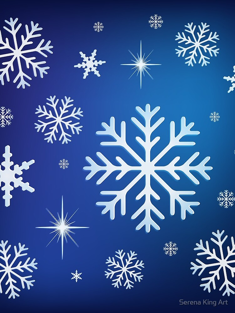 Snowflake Background - Blue by serenaking