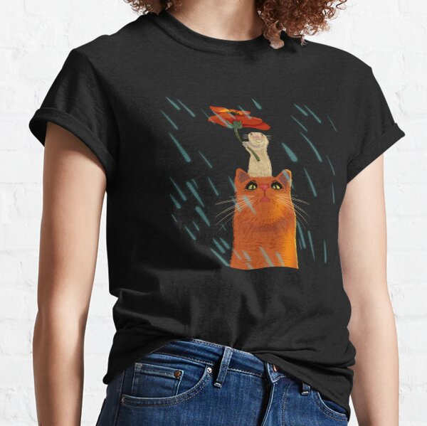 Cat and mouse on a rainy day Classic T-Shirt