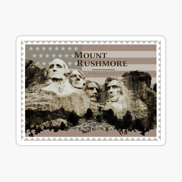 Mount Rushmore Stamp Sticker