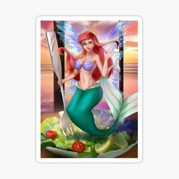 Salad Mermaid Fairy Sticker