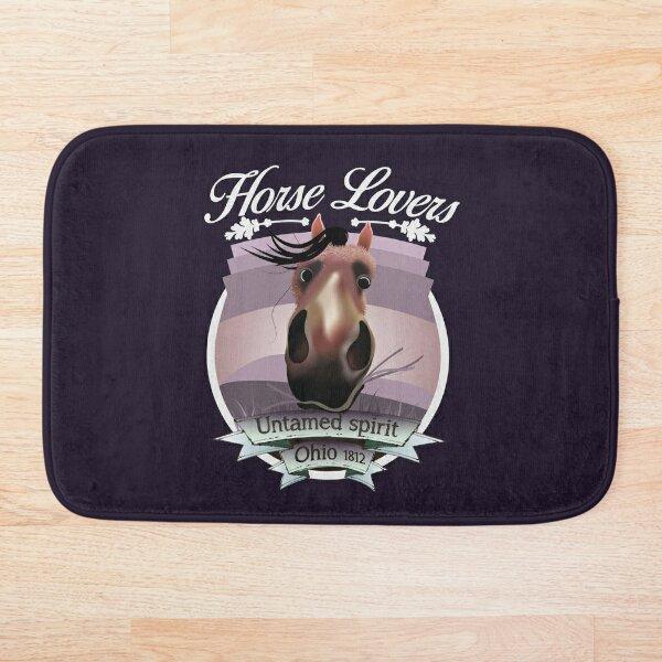 Horse Lovers - untamed spirit - Ohio 1812 (light lettering) Bath Mat